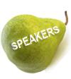 Pear speakers
