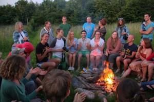 Socializing-at the campfire