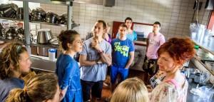 Volunteers-kitchen introduction