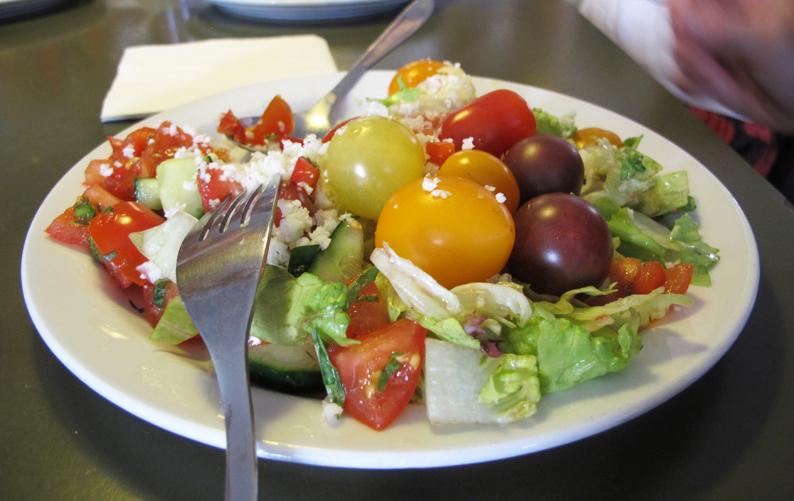 The food-salad on plate
