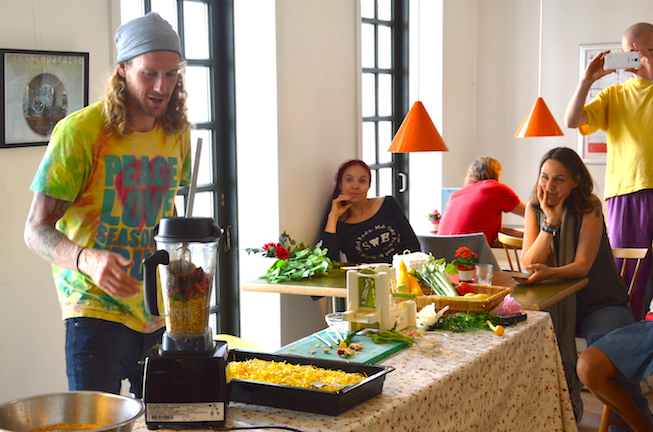 Chris Kendalls food demo at the Fresh Food Festival 2015