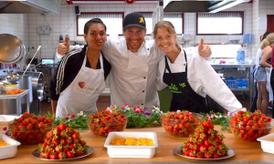Raw food chefs at the fresh food festival in Denmark